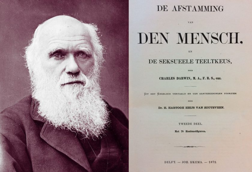 Darwin in de bibliotheek van Liberaal Archief/Liberas