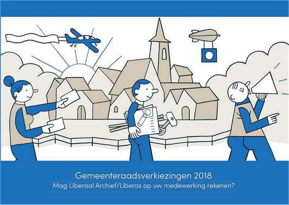 Oproep propaganda verkiezingen voor gemeente- en provincieraad van 14 oktober 2018.