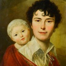 Vader en zoon Popp geschilderd