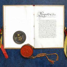 Een charter uit 1870: Charles Liedts wordt baron
