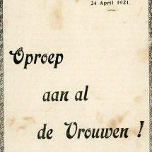 'Oproep aan al de Vrouwen!' 1921-2021: 100 jaar gemeentelijk kiesrecht voor vrouwen